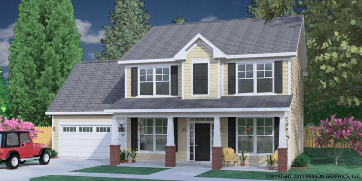 House Plan 1883 B Hartwell Elevation B 1883 Square Feet