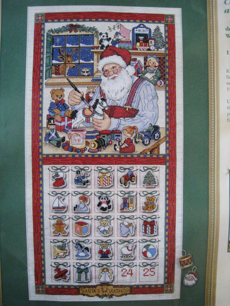Counted Cross Stitch Holiday Advent Calendar Kit Christmas Countdown Whiteaker | eBay