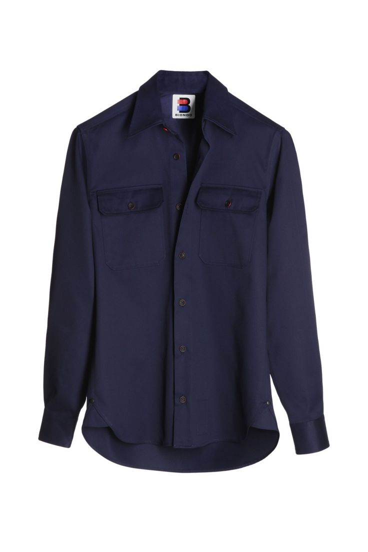 BIONDO ENDURANCE DOUBLE FLAP POCKET HD SPORT SHIRT NARROW FIT CM_0001 Ultramarine Blue