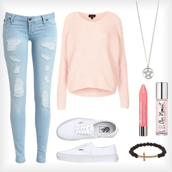 Spring Outfit! by morgan74 on Polyvore featuring Topshop, Vans, Luis Morais and Bourjois