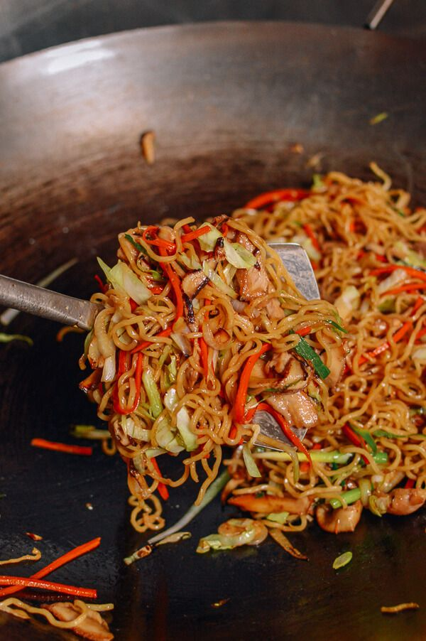 Chicken Yakisoba, by thewoksoflife.com- triple the sauce!