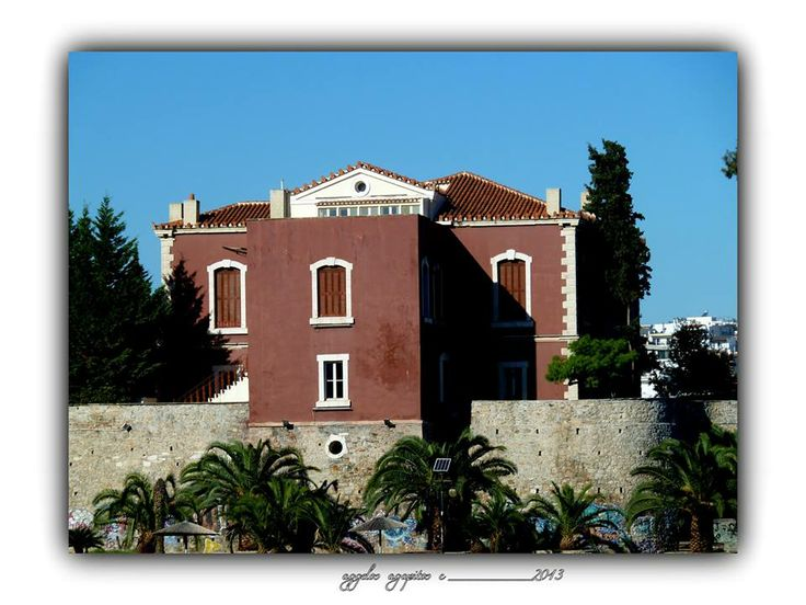 Famous Red House. Chalkida - Greece