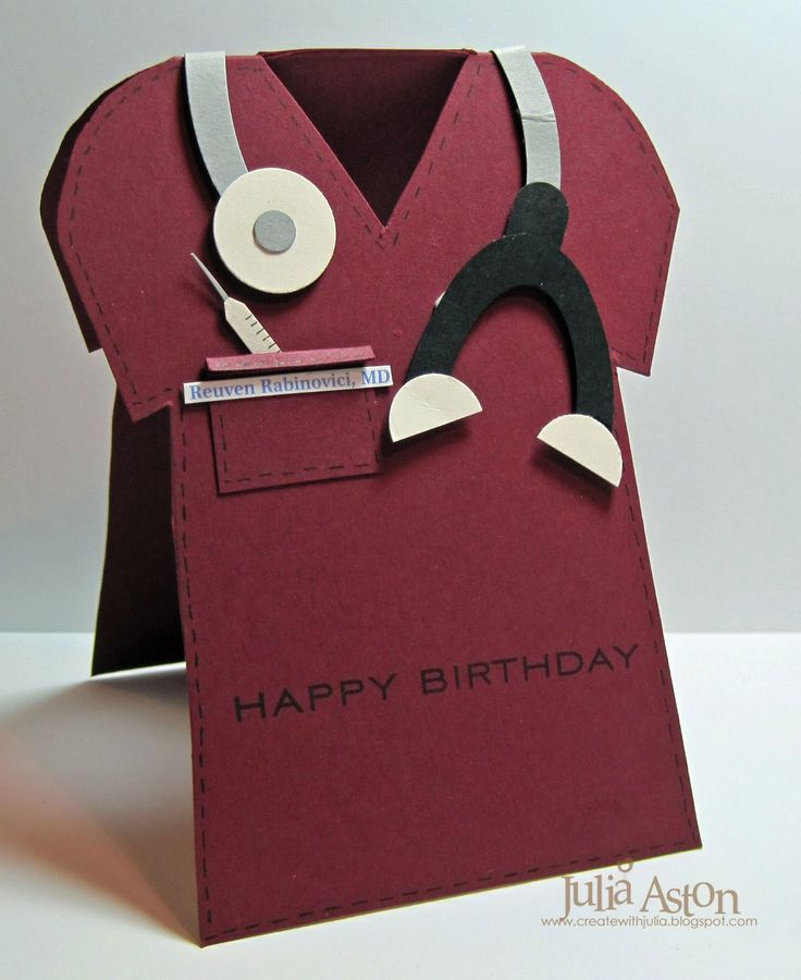 homemade birthday card for a special doctor | ... this was just what i needed for my boss s birthday card today for