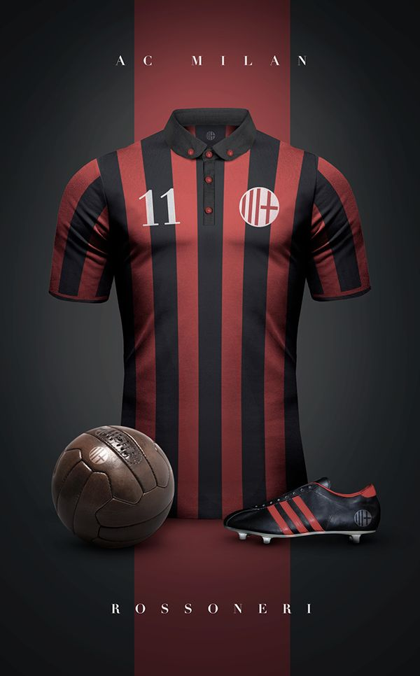 AC Milan estilo vintage