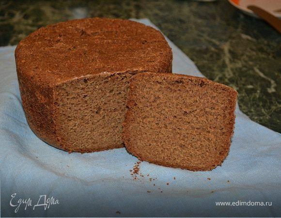 Ржаной хлеб с ржаными отрубями на закваске. Ингредиенты: ржаная мука, ржаные отруби, закваска вечная