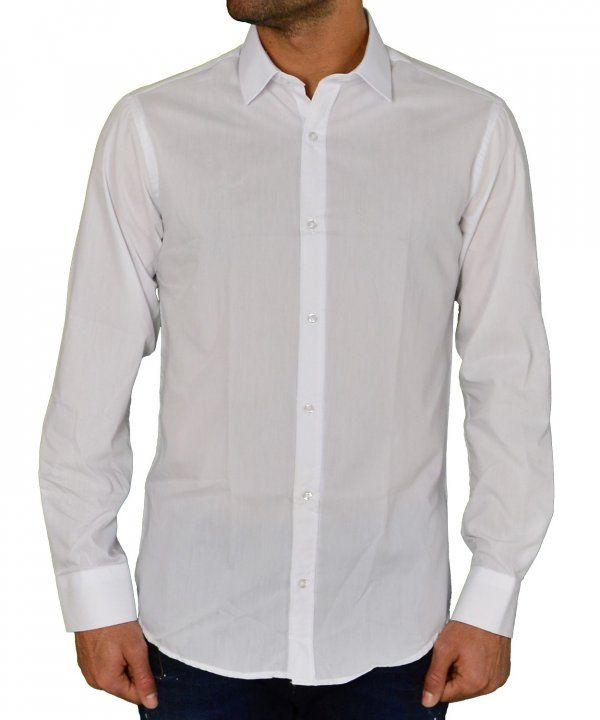 Ανδρικό μονόχρωμο πουκάμισο Gio.S λευκό 9551W17D  ανδρικάπουκάμισα  ρούχα   στυλ  ντύσιμο ece7c6914a4