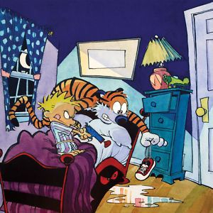 Calvin and Hobbes, Something Under the Bed is Drooling