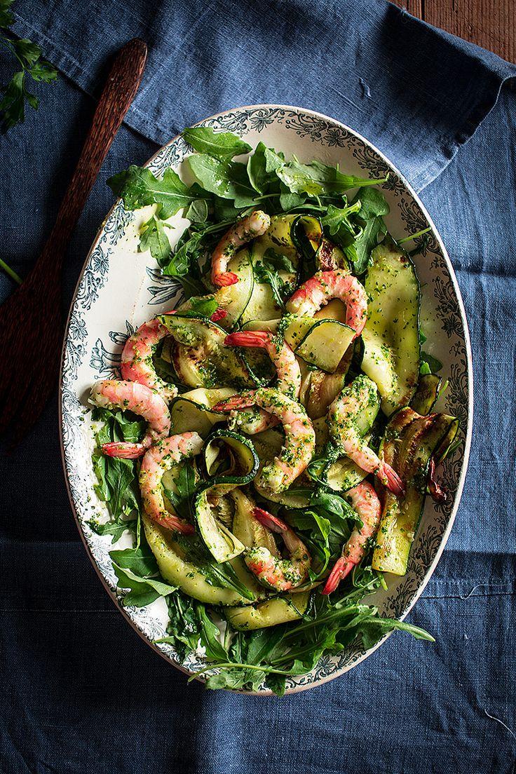 Ensalada de calabacin y langostinos con salsa verde see - Ensalada de langostinos ...
