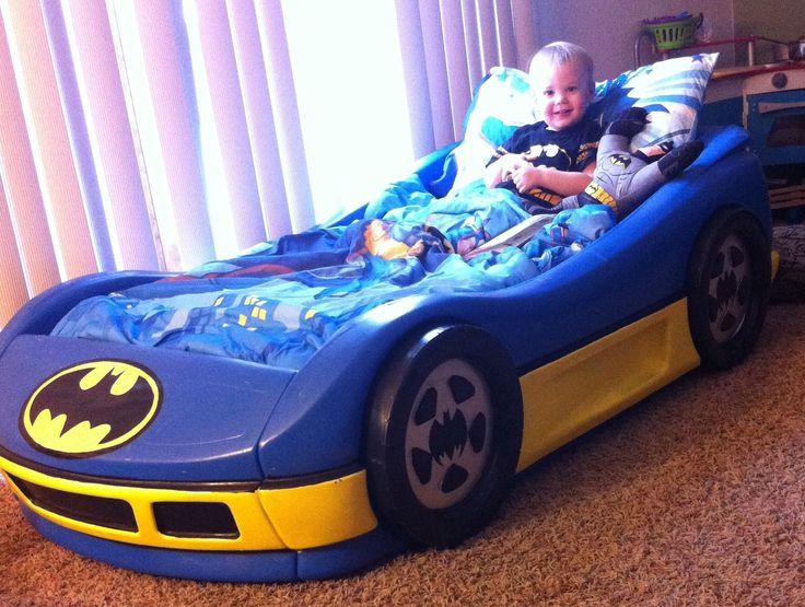DIY kids Batman car bed unique designs. 9 Fantastic Kids Car Bed Decoration Toddler Bedding Sets Ideas
