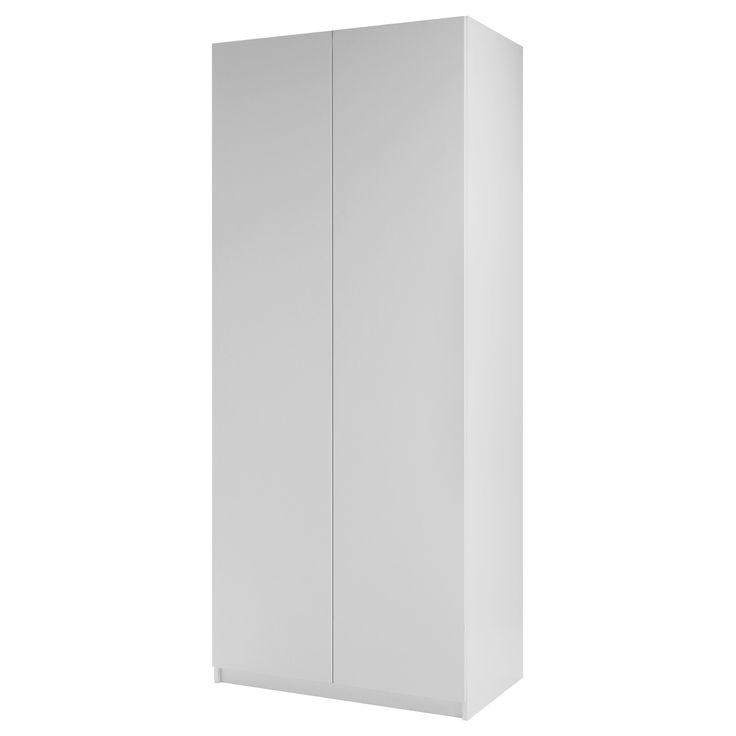 PAX Garderobe med 2 dører - Ballstad hvit, hvit, 100x60x236 cm, standard hengsler - IKEA