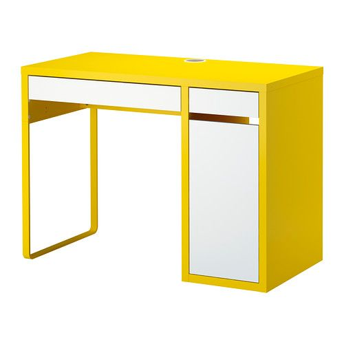 micke bureau jaune blanc ikea a avoir pinterest cable too cute and chloe. Black Bedroom Furniture Sets. Home Design Ideas
