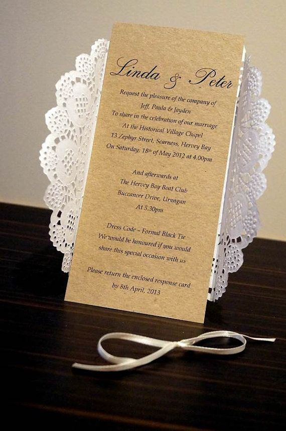 rustic chic wedding invitation sample paper by stunningstationery - When Do Wedding Invites Go Out