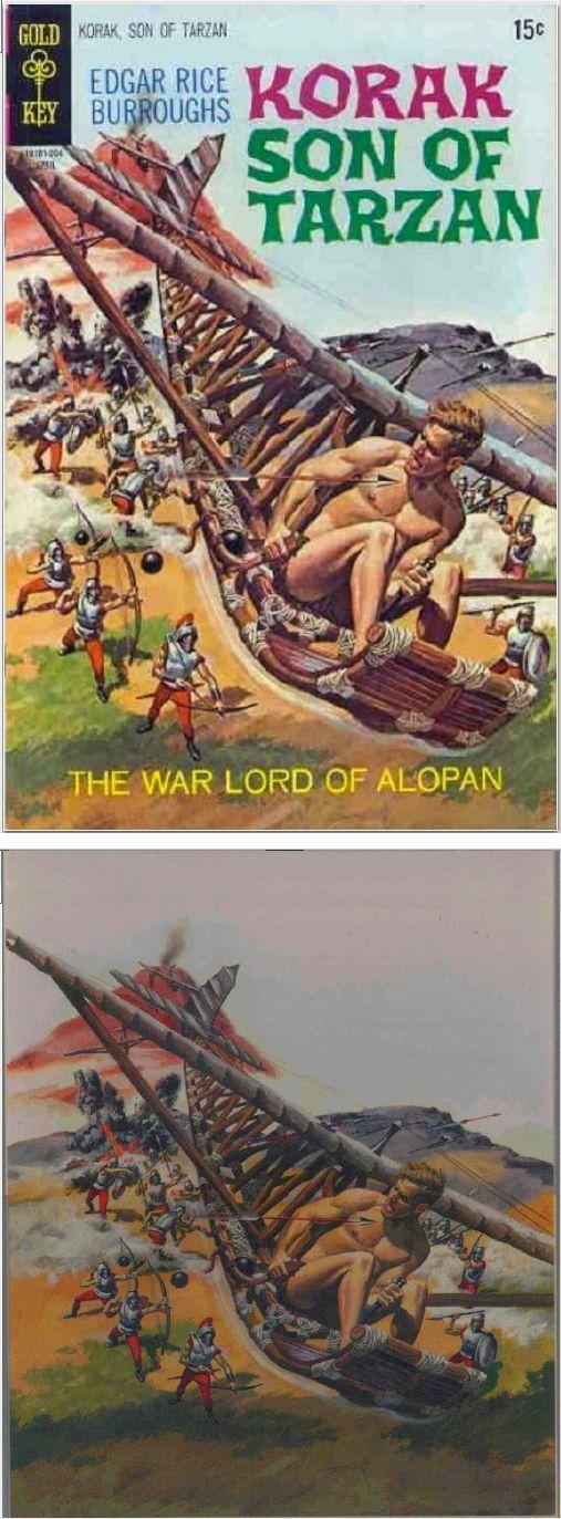 GEORGE WILSON - The Warlord of Alopan - Korak Son of Tarzan #34 - April 1070 Gold Key - cover by comicvine.gamespot - print by comicartfans