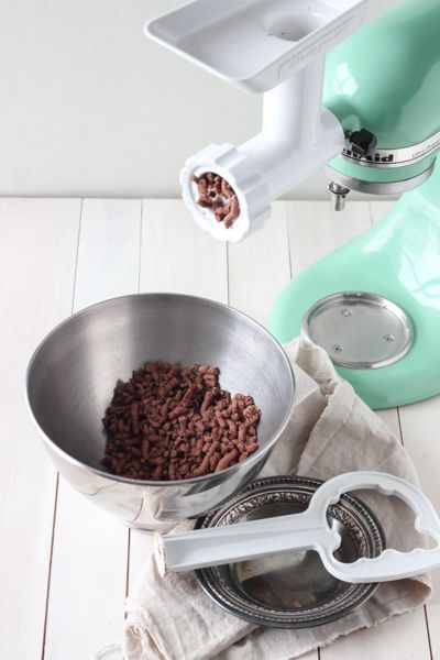 Kitchen Aid grinding tool to make hot chocolate. Brilliant!