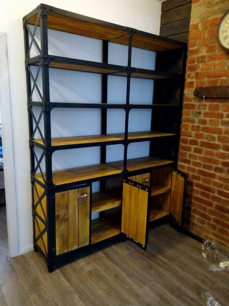 Купить Стеллаж в стиле винтажный лофт. - стеллаж, лофт, лофт мебель, стеллаж в стиле лофт