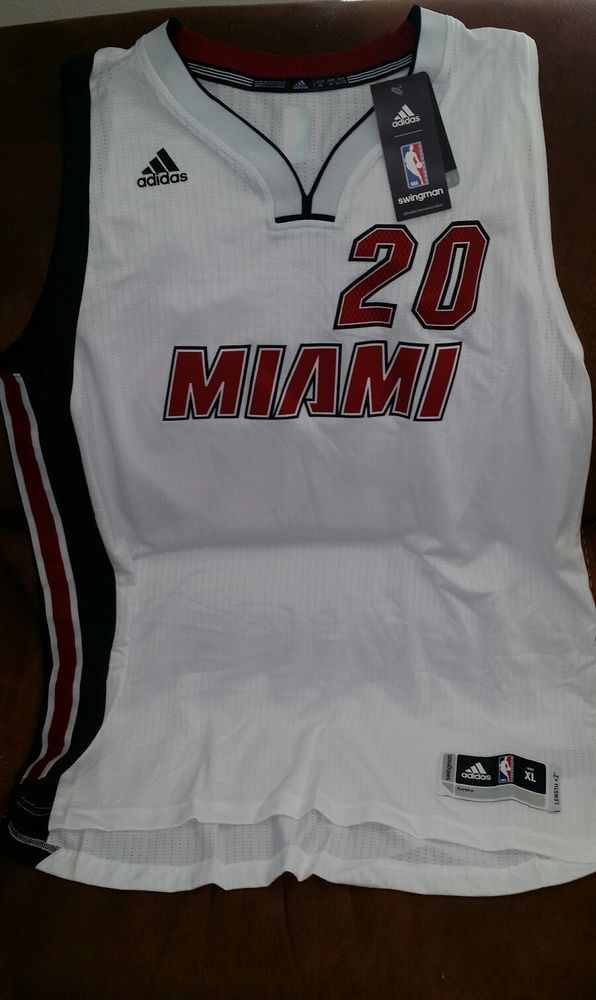 Adidas justise winslow #20 miami heat nba jersey NWT size XL Lenght +2 men | Sports Mem, Cards & Fan Shop, Fan Apparel & Souvenirs, Basketball-NBA | eBay!