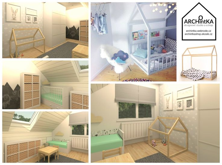 pokojíček v podkroví ve skandinávském stylu