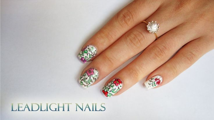 Leadlight nails. Easy to do and really good looking ♥ Tutorial