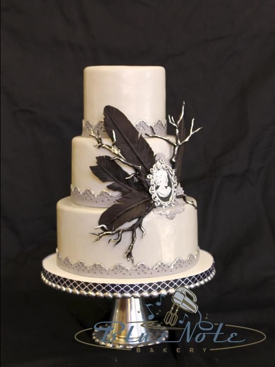 Edgar Allen Poe Themed Wedding | Blue Note Bakery   Austin, Texas Part 87