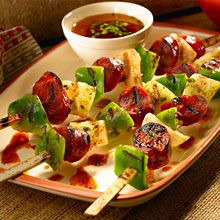 Found in tapas bars throughout Spain, chorizo skewers, known as Pinchos (or Pintxos) Morunos are a delicious and easy Spanish tapas recipe.