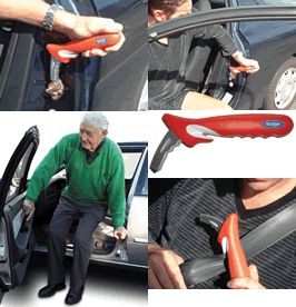 The Handybar makes it easier for seniors, the elderly and mobility impaired users to get in an out of the car