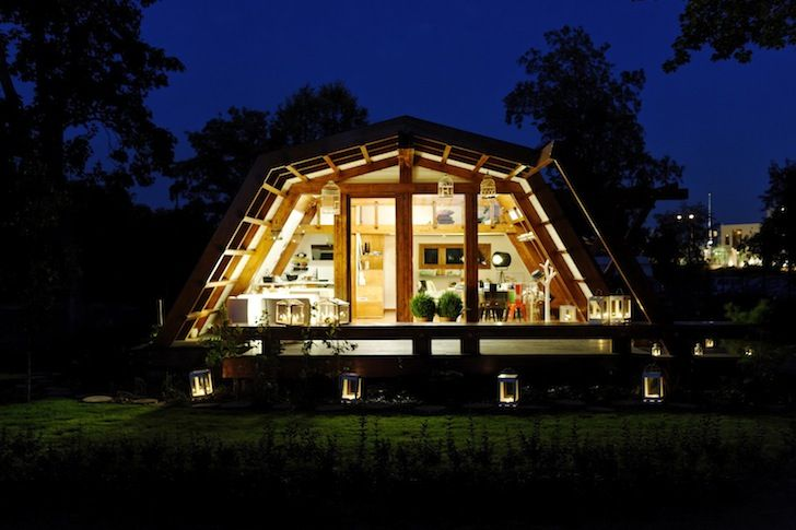 Soleta zeroEnergy One by Justin Capra Foundation for Investment and Sustainable Technologies is a modular tiny home remote controlled by an iPhone