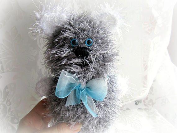 Crochet cat knitted kitten stuffed cat toy plush cat