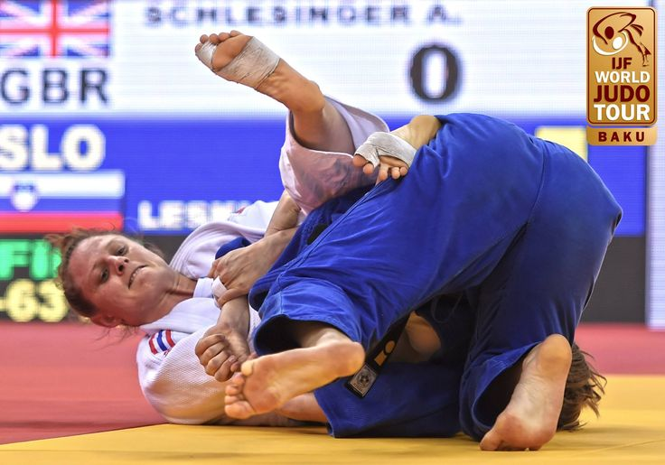 March 12 2017 - British Judo star Alice Schlesinger wins gold in the -63kg class at JudoBaku2017 in Azerbaijan