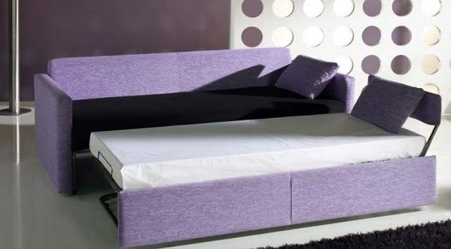 Sofás cama con dos camas: Máxima comodidad por separado  #hogar #decoración #sofás #cama #sofáscama #decompras www.hogardiez.com