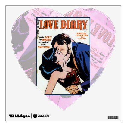 Love Diary #33 Wall Decal  $16.15  by TheNinthArt  - cyo customize personalize unique diy idea