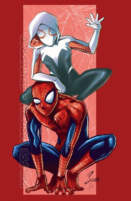 Spider-Gwen and Spider-man