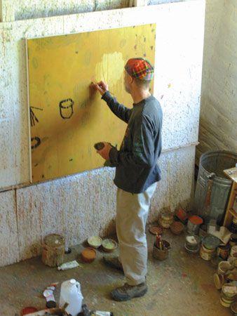 kevin tolman artist   Kevin Tolman, at work in his studio