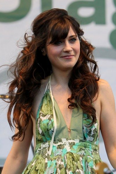 cute and curly zooey hair... if i don't grow the bangs out.