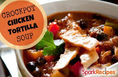 This tortilla soup tastes better than anything you can get at a restaurant. And it's healthy too! Don't let the long list of ingredients fool you. All you do is dump everything into the slow cooker and walk away.