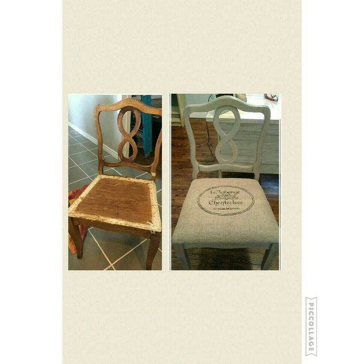 before and after french provincial dining chair
