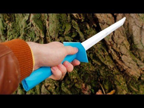 espada de papelão - ws tutoriais - YouTube