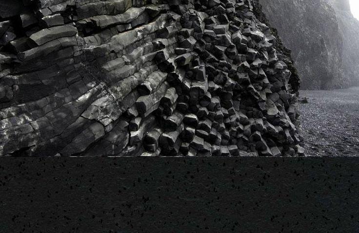 Černá kaučuková podlaha Artigo Lava s embosovaným povrchem. / Black rubber floor Artigo Lava with embossed surface.  http://www.bocapraha.cz/cs/produkt/991/lava/