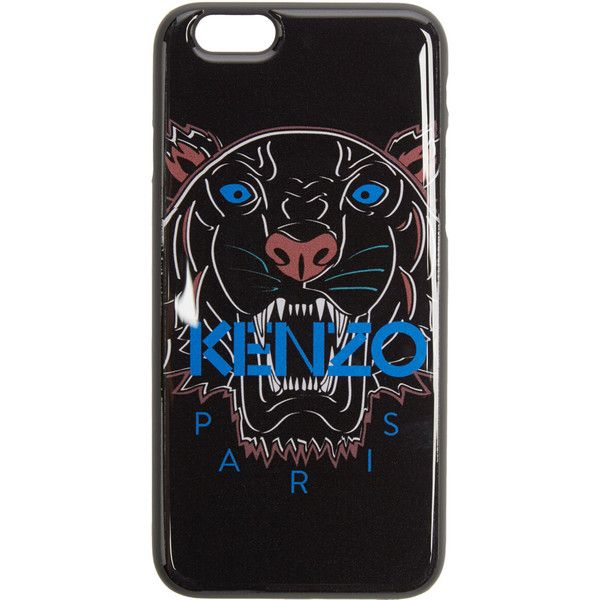 Kenzo Black Tiger iPhone 6 Case ($41) ❤ liked on Polyvore featuring accessories, tech accessories, black and kenzo