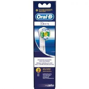 Oral-B Opzetborstels 3DWhite (ProBright) 2 stuks  Description: De Oral-B 3D White opzetborstel is ontworpen om zacht aanslag op de tanden te verwijderen. Met een door tandartsen geinspireerde rubberen polijstcup voor natuurlijk wittere tanden.  Zorgt voor een superieure polijstactie  Omhult elke tand voor een grondige reiniging  Zorgt voor een zachte poetssensatie  Price: 10.95  Meer informatie