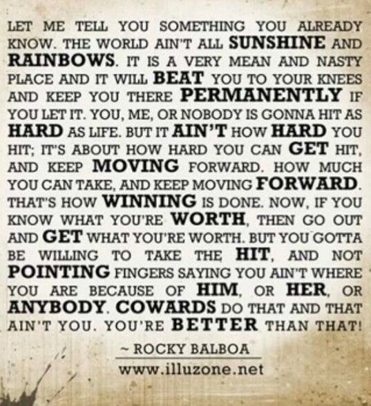 Rocky Balboa Life Is Hard Quote: 33 Best Images About Rocky References On Pinterest