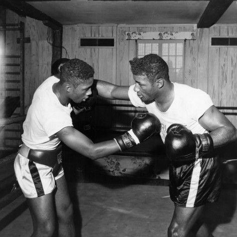 Floyd Patterson sparring.  Moneta Sleet, Jr.