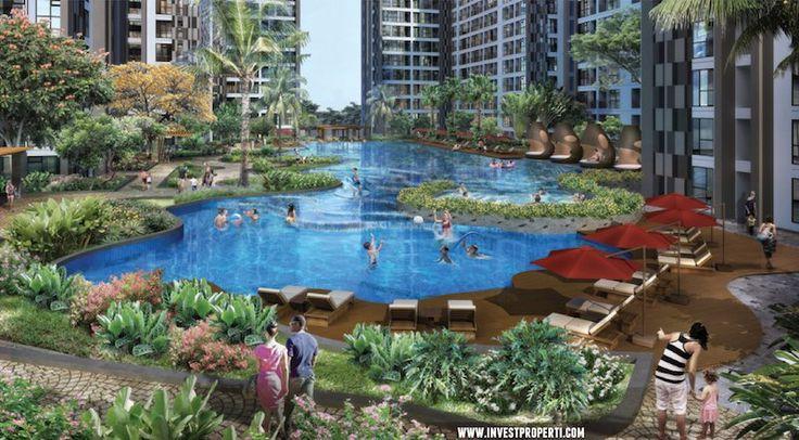 Kolam renang resort di apartemen Serpong Midtown Residence.