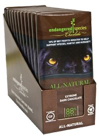 Extreme Dark Chocolate by Endangered Species Chocolate Co. - Buy Extreme Dark Chocolate 12 Bars at the Vitamin Shoppe