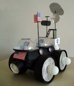 Make a space buggy with axels. Can use this idea to make a table like a golf cart