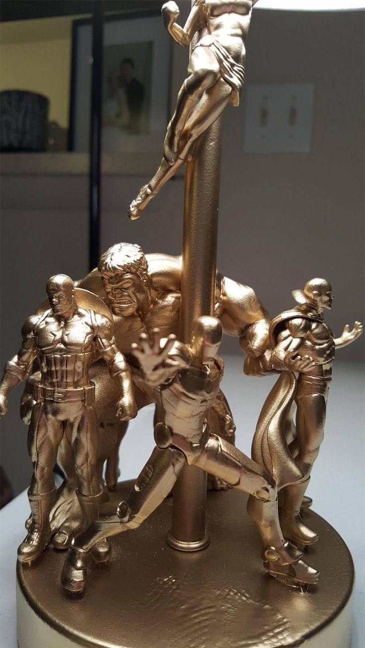 Mache eine Lampe mit deinen alten Actionfiguren – #action figures #old #in …