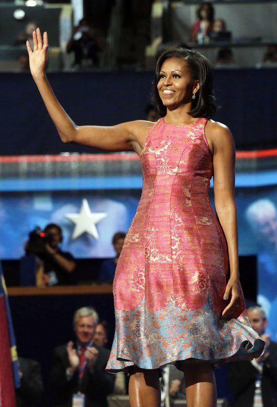 Michelle Obama wears Tracy Reese 2012. via Associated Press #BlackFashionDesigners