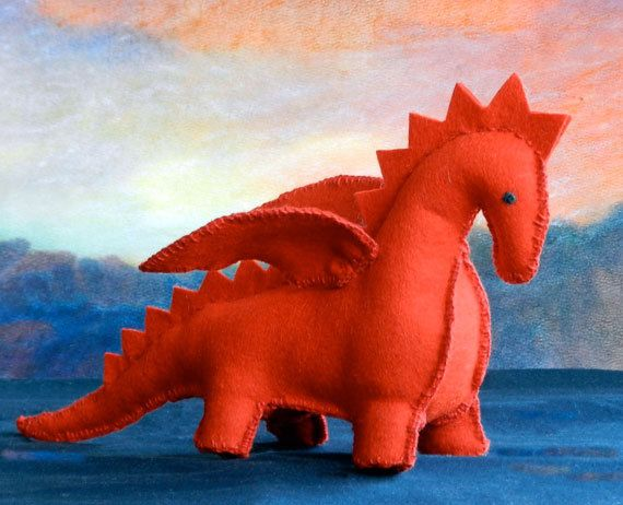 DIY Felt Patttern  PDF Instruction  The Dragon  by handworkstudio