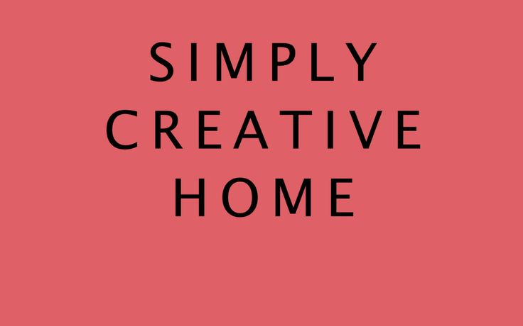 Welcome to Simply Creative Home