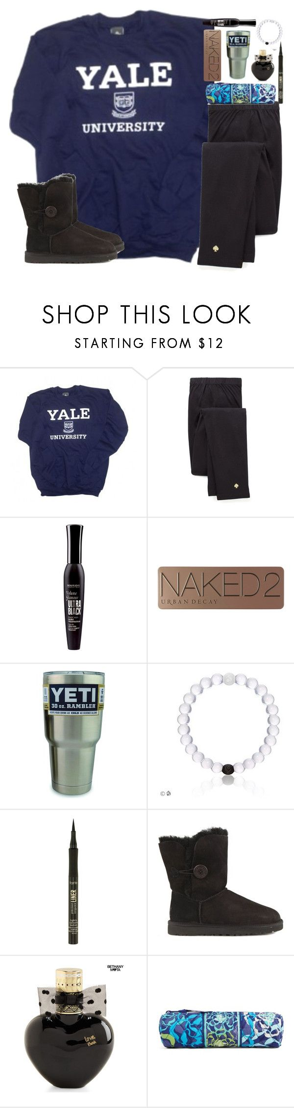"""""""Y is for yeti!"""" by shannaolo ❤ liked on Polyvore featuring mode, Kate Spade, Bourjois, Urban Decay, tarte, UGG Australia, Aéropostale en Vera Bradley"""
