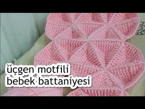 Üçgen Motifli Bebek Battaniyesi Yapımı
